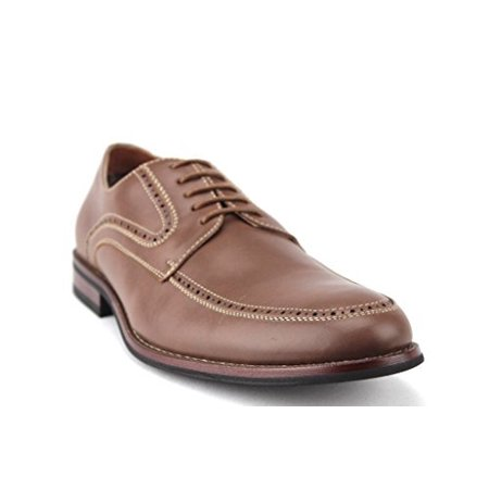 Ferro Aldo Mens 19520L Round Toe Perforated Lace Up Casual Dress Oxford Shoes