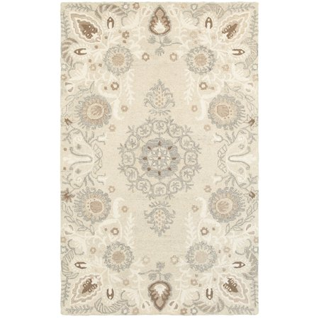 Sphinx Craft Area Rugs - 93000 Contemporary Sand Petals Vines Leaves Curves Rug