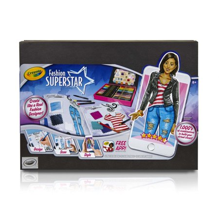 Crayola Fashion Superstar  Coloring Book And Free App  Gift