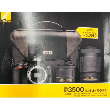 Nikon D3500 W/ 18-55mm & 70-300mm Lenses & Bag