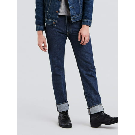 Worn Jeans Button Fly Jeans - Levi's Men's 501 Original Fit Jeans