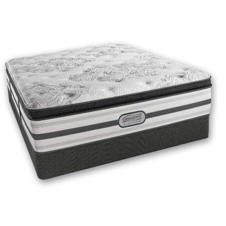 doris full size plush pillow top mattress and standard box spring set simmons beautyrest. Black Bedroom Furniture Sets. Home Design Ideas