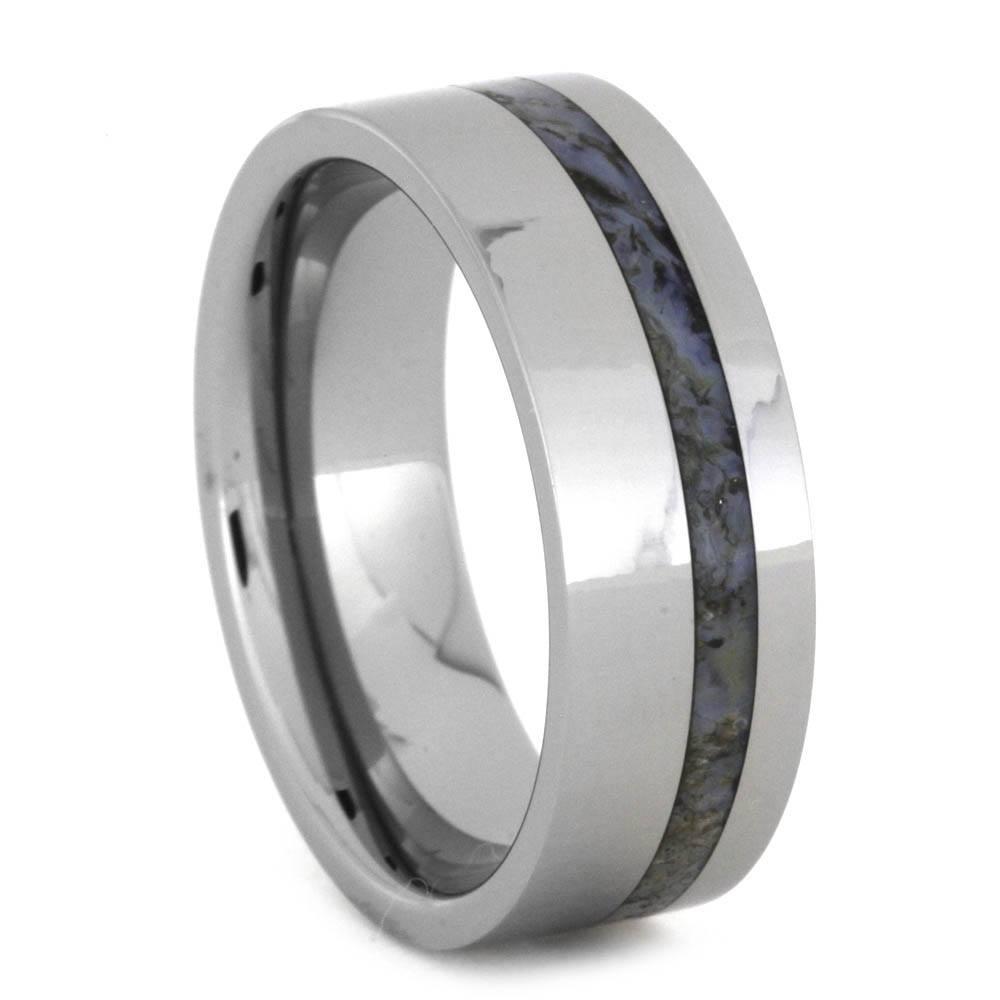 Jewelrynstuff Dinosaur Bone Wedding Band Tungsten Ring 8mm