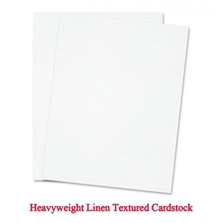 White Linen Textured 8 1 2 X 11 Inches Card Stock 80lb 25 Papers Per Pack
