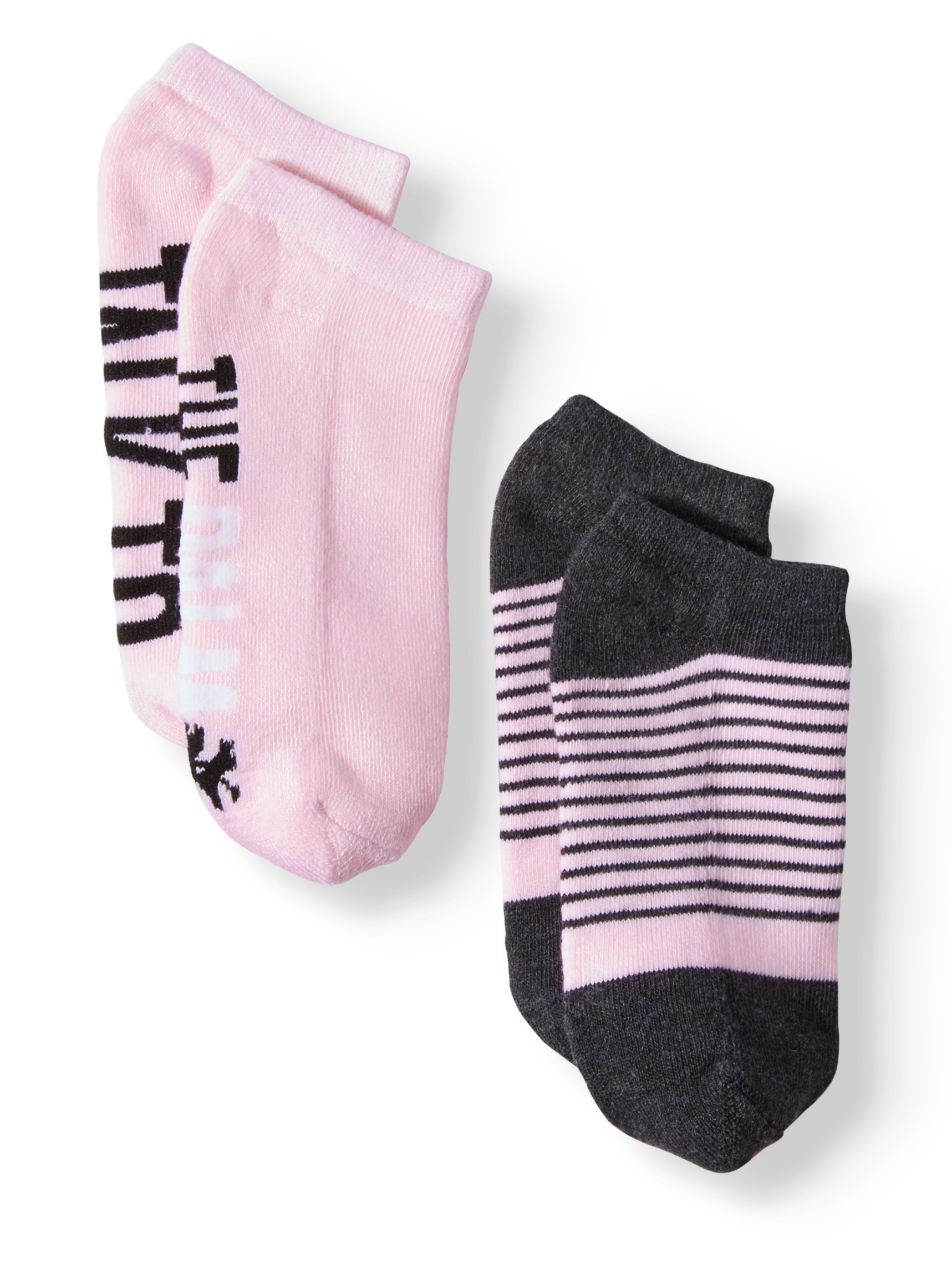 Ladies' Talk to the Palm 2-Pack Verbiage No Show Socks