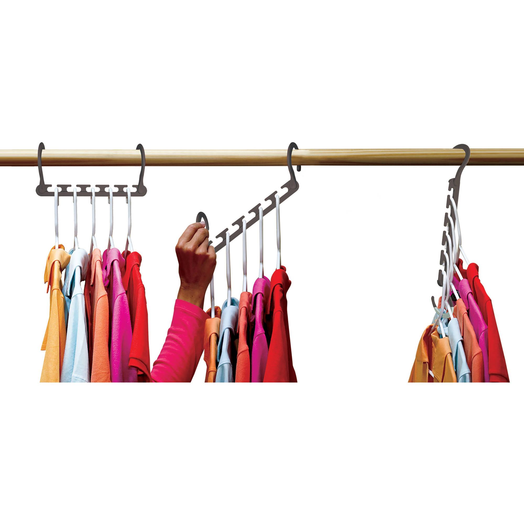 Lot 25 Closet Space Builder Clothes Organizer Saver Magic Hangers As Seen On TV