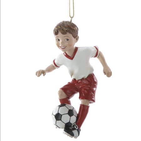Boy Soccer Sports Player Christmas Tree Ornament Decoration C8189B New Adler