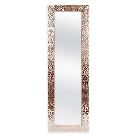 Mirror 53-Inch x 17-Inch Rectangular Sequin Over-the-Door Plastic/glass, This Door Solutions Over-the-Door Sequin Mirror makes the back of any.., By Door Solutions