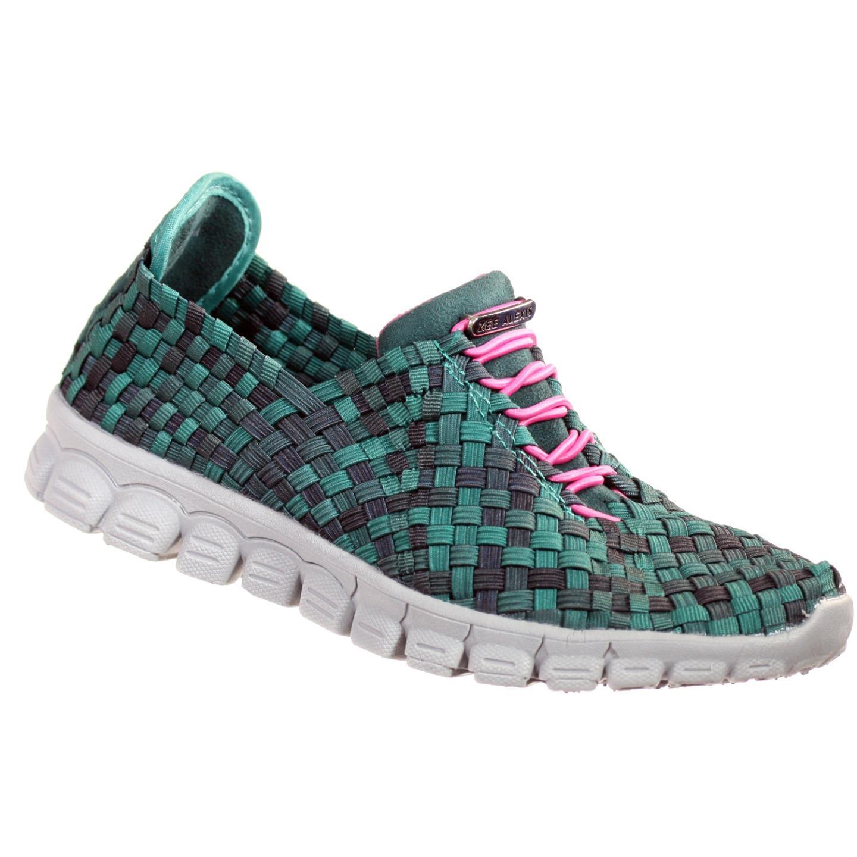 Zee Alexis Womens Danielle Athletic Shoes  Black Teal Multi 9.5 M