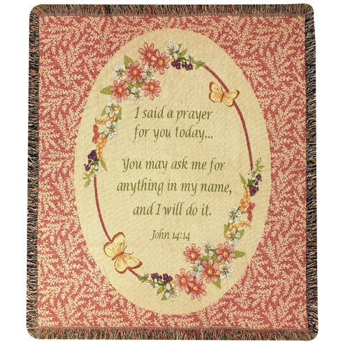 Manual Woodworkers & Weavers Today's Prayer Tapestry Cotton Throw