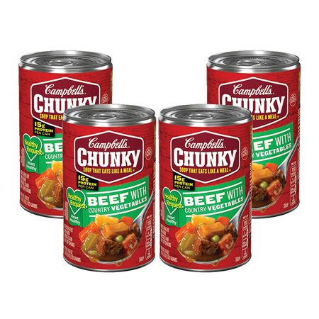 (3 Pack) Campbell's Chunky Healthy Request Beef with Country Vegetables Soup, 18.8