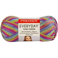 premier everyday plaid yarn - magenta purple
