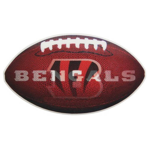 NFL Cincinnati Bengals 3D Football Magnet, 2-Pack