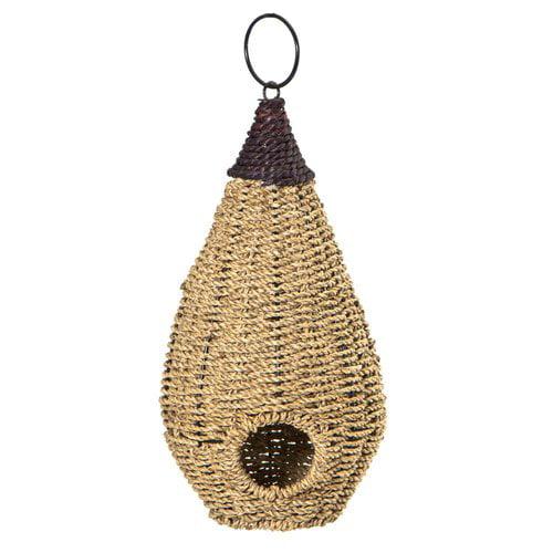 Woodlink Teardrop Seagrass Roosting Pocket 12in x 7in x 7in Birdhouse