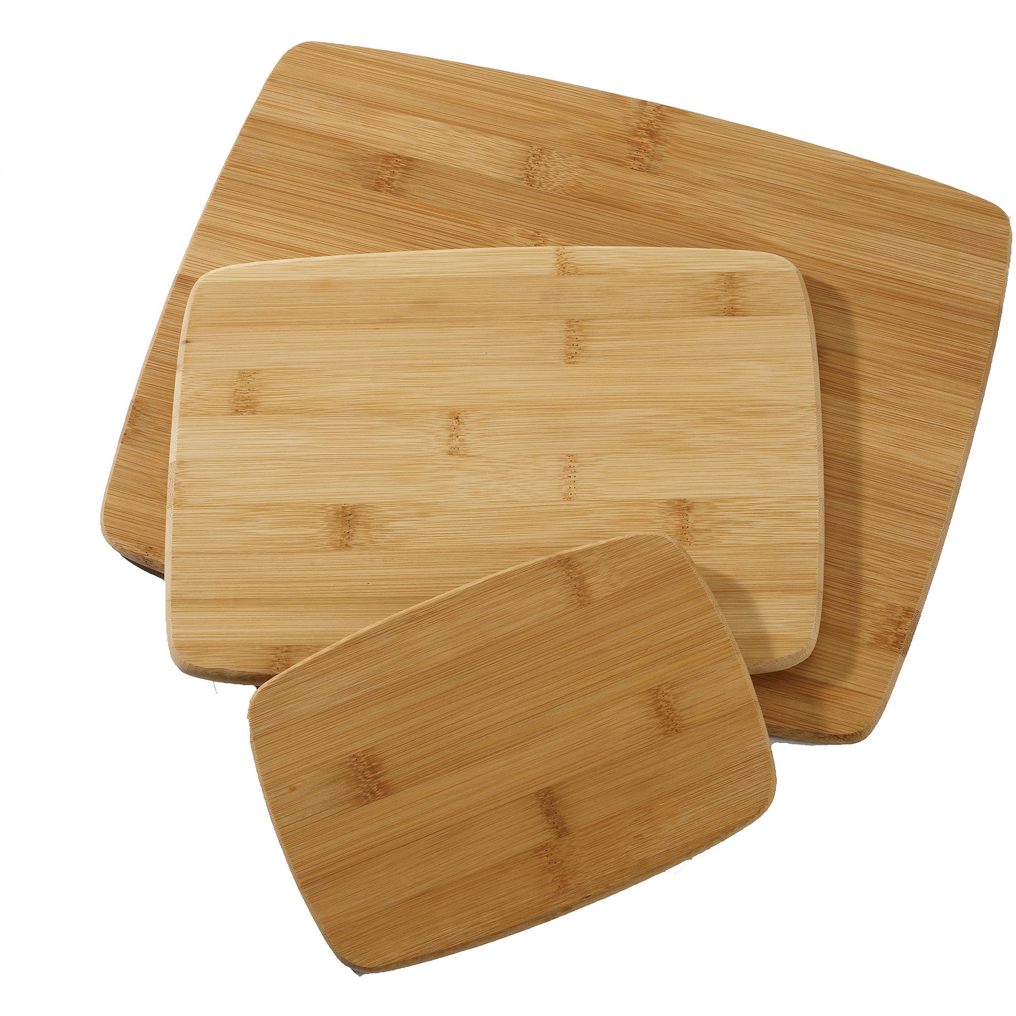 "Farberware Classic 3-Piece Bamboo Cutting Board Set, 11"" x 14"", 8"" x 10"" and 8"" x 5"""