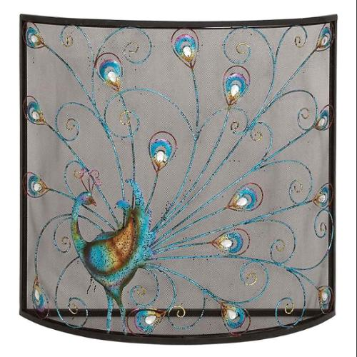 Classic And Lovely Inspired Bird Metal Fireplace Screen Home Accent Decor by