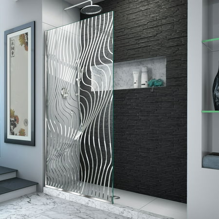 Dreamline Shower Panel (DreamLine Platinum Linea Surf 34 in. W x 72 in. H Single Panel Frameless Shower Screen in Polished Stainless Steel)