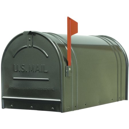 Jumbo Rural Mailbox - Fulton 20410566 Jumbo Size Steel Rural Mailbox, Gun Metal Silver