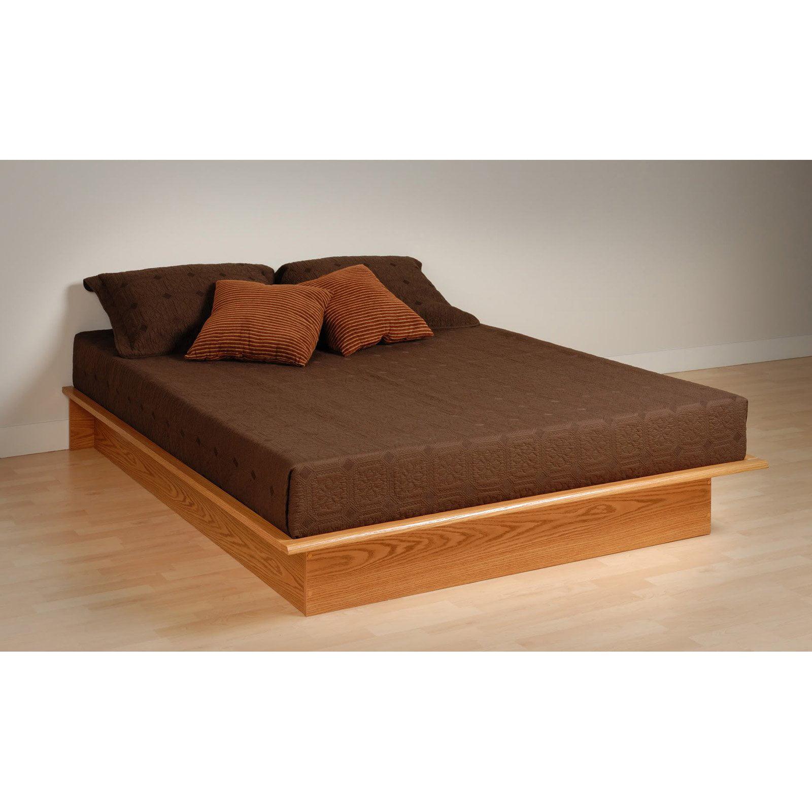 Queen Platform Bed, Oak (Box 1 of 2)