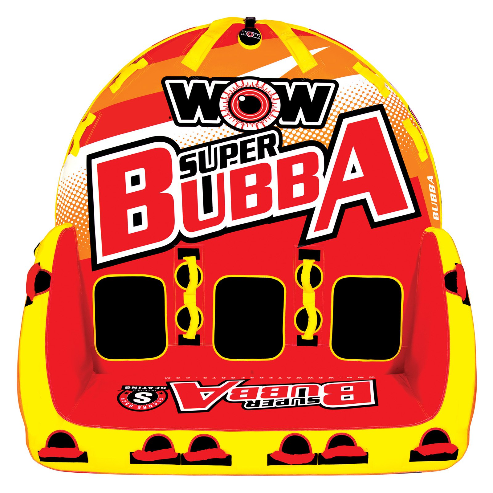 WOW 171060 Super Bubba Hi-Vis Inflatable Towable for 1-3 Riders by WOW Watersports USA