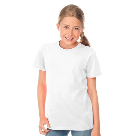 Kavio Youth Pigment Dye Crew Neck Jersey Tee YJP0496 - White - Large