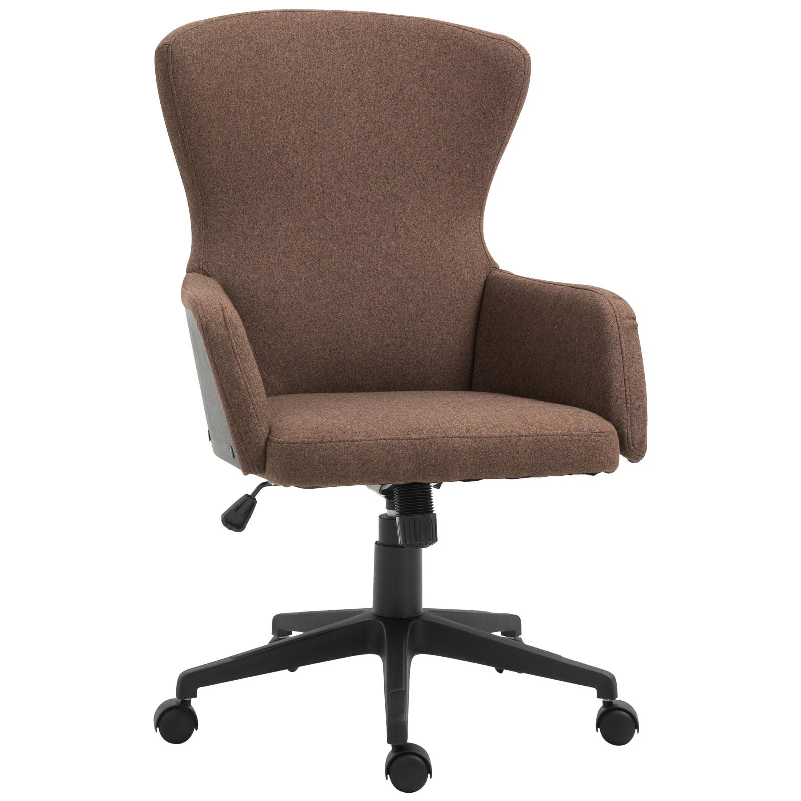Picture of: Vinsetto Ergonomic Rolling Office Desk Computer Chair With 5 Castor Wheels Easy Adjustable Height Tilt Walmart Com Walmart Com