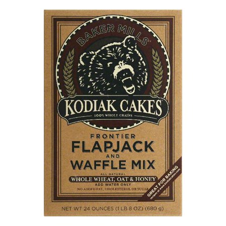 Mellow Bear - Kodiak Cakes Flapjack and Waffle Mix, 24 OZ (Pack of 6)