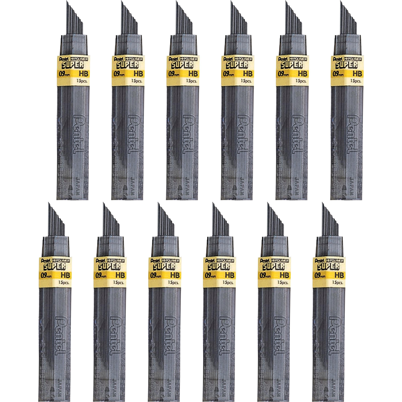 Pentel, PEN509HBBX, Super Hi-Polymer Leads, 180 / Box