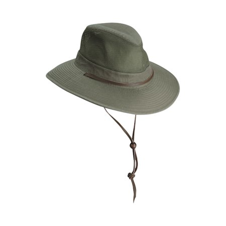 DORFMAN PACIFIC BIG BRIM SAFARI HAT OLIVE MD