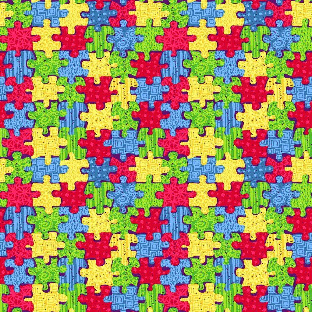 "Oracal 651 Patterned Vinyl - ""Autism Awareness"""