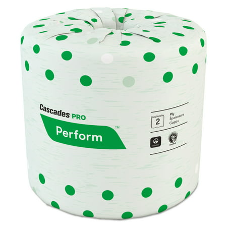 Cascades Standard Bathroom Tissue, 2-Ply, 4 x 3 1/2, White, 336 Sheets/Roll, 48 Rolls/Ctn