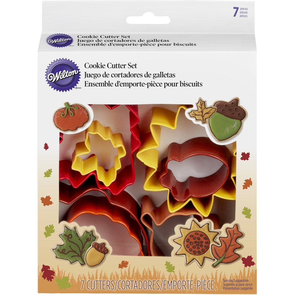 Wilton Colorful Metal Autumn 7 Pc Cookie Cutter Set Fall