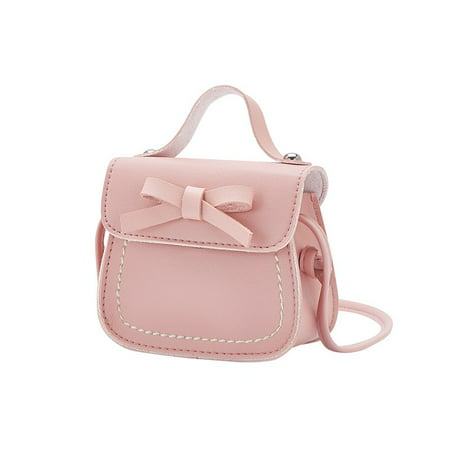 Weefy Kids Girls Lovely Mini Messenger Bag Bow Purses Handbags Princess Shoulder Bags ()