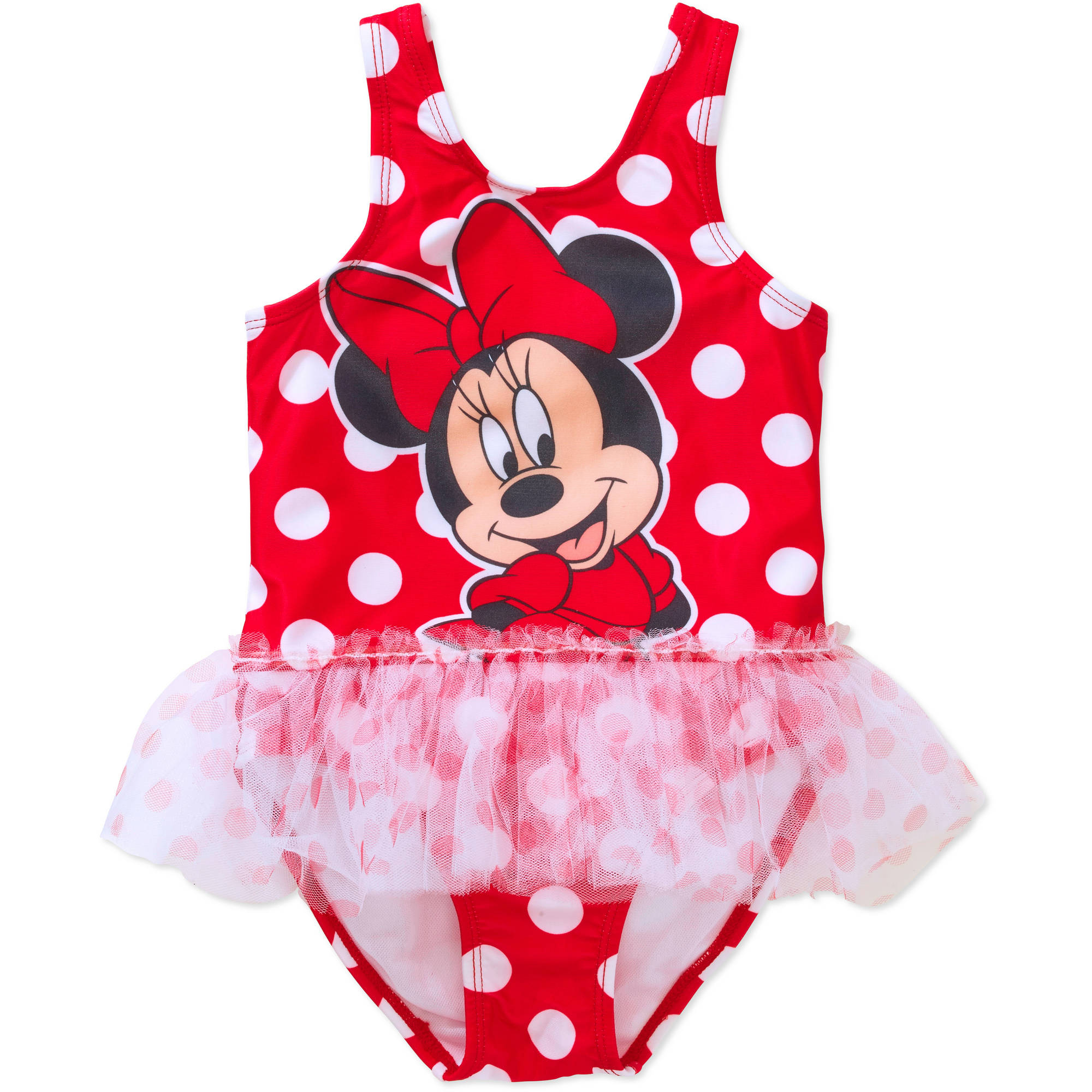 Toddler Girl Tutu 1-Piece Polka Dot Swimsuit