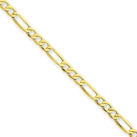 14kt Yellow Gold 3.5mm Semi-Solid Figaro Chain