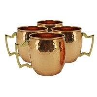 Charlton Home Averill Hammered Moscow Mule Mug (Set of 4)