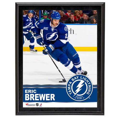 NHL - Eric Brewer Sublimated 10x13 Plaque | Details: Tampa Bay Lightning