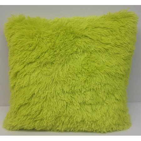 Set Of 2 Large Shaggy Faux Fur Throw Pillows 20 Inches By 20 Inches