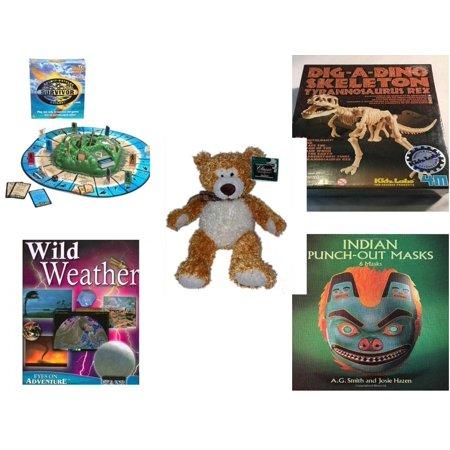 Children's Gift Bundle [5 Piece] -  Survivor  Outwit-Outplay-Outlast - T-Rex Dinosaur Excavation Kit  - Classic Impressions Collectible Kelly   Bear 14