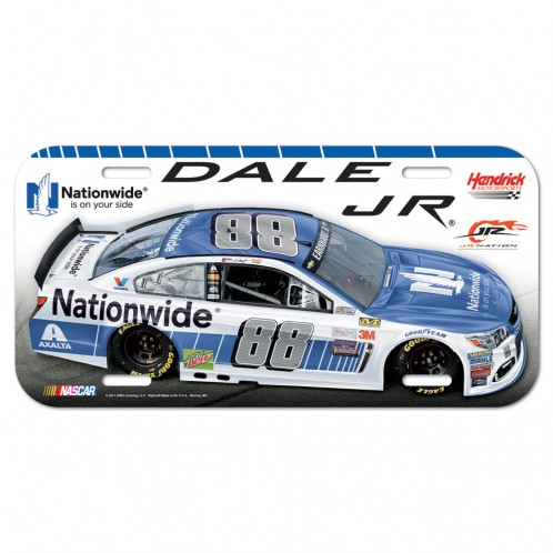 Dale Earnhardt Jr. Official NASCAR 6 inch  x 12 inch  Plastic License Plate by WinCraft