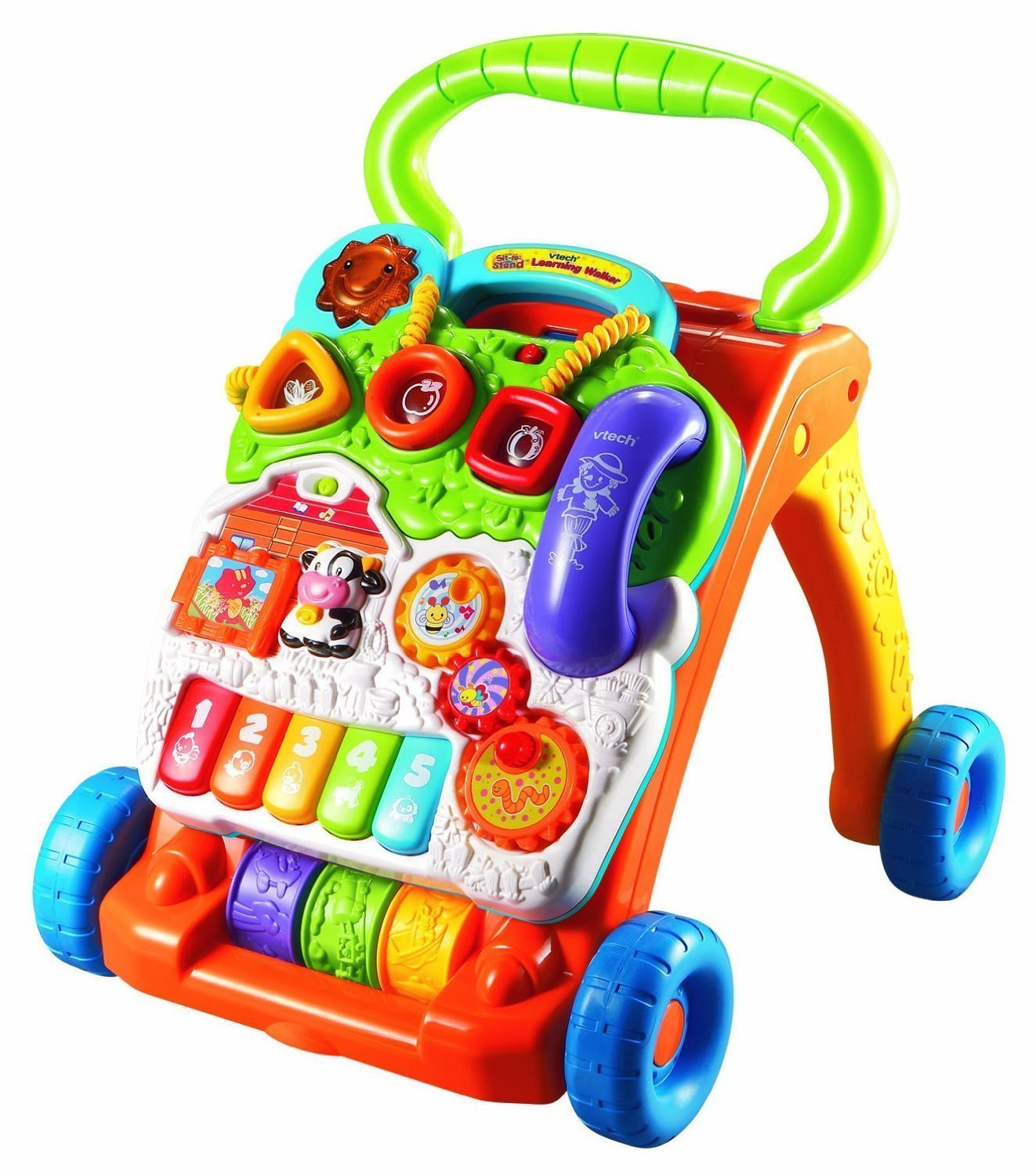 VTech Sit-to-Stand Learning Walker, Interactive learning with Over 70 sing-along... by