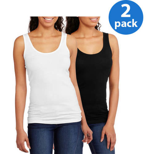 No Boundaries Juniors' Plus Scoop Neck Tank 2 Pack