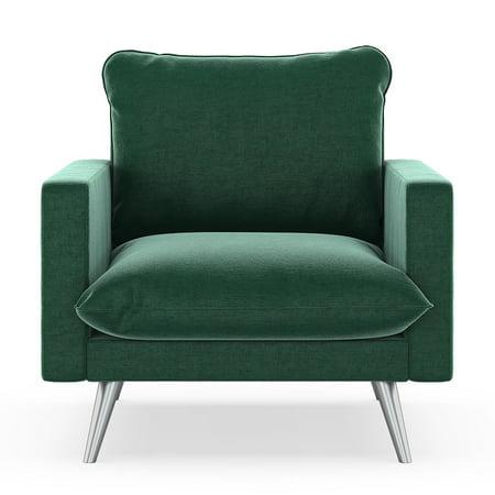 - Reagan Armchair Mod Velvet - Jade Green
