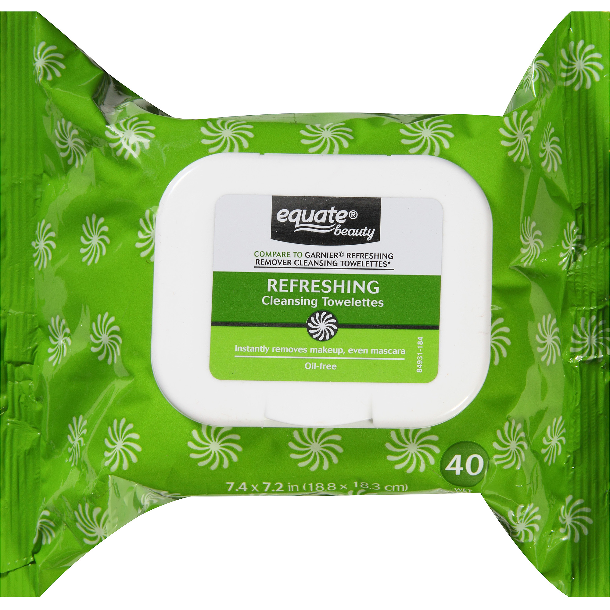 Equate Beauty Refreshing Cleansing Towelettes, 40 sheets