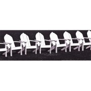 Gango Editions GANFST014M Block Island Chairs I Poster Print by Susan Frost - 18 x 6