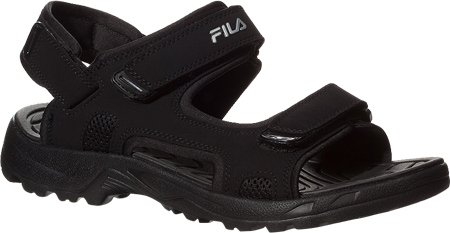 Fila TRANSITION Mens Black Strap Slip On Comfort Casual Sports Sandals by