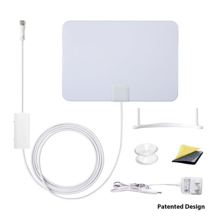 ANTOP AT-106B Paper Thin Antenna Smartpass Amplified TV Antenna with High  Gain and Built-in 4G LTE Filter Refurbished