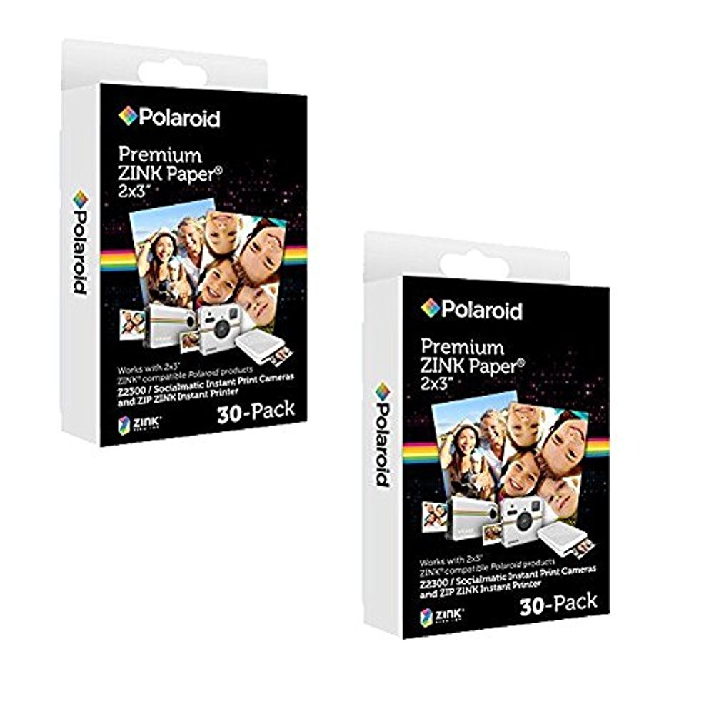 Polaroid 2x3 inch Premium ZINK Photo Paper (60 Sheets) - Compatible With Polaroid Snap, Z2300, SocialMatic Instant Cameras & Zip Instant Printer