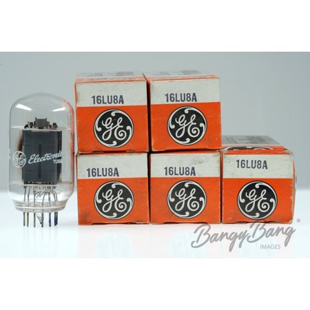 5 Vintage General Electric 16LU8A Beam Power Amp. Radio Compactron Valve- BangyBang