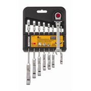 Bostitch BTMT72270 8-Piece FLEX Combination Anti-Slip Metric Ratcheting Wrench Set